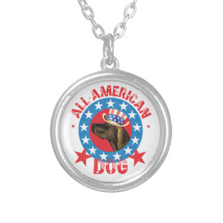 Patriotic Plott Silver Plated Necklace