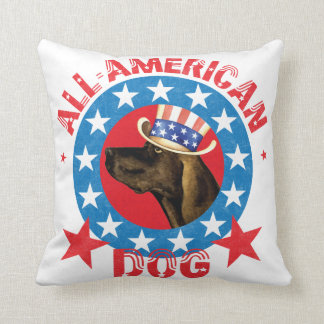 Patriotic Plott Throw Pillow
