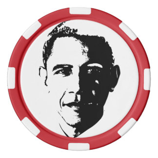 Patriotic Poker Chips - Obama
