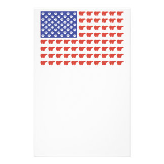 Patriotic Polar Bears USA Personalized Stationery