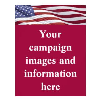 Patriotic Political Campaign 21.5 Cm X 28 Cm Flyer