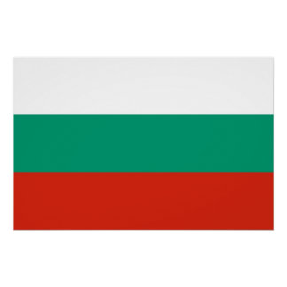 Patriotic poster with Flag of Bulgaria