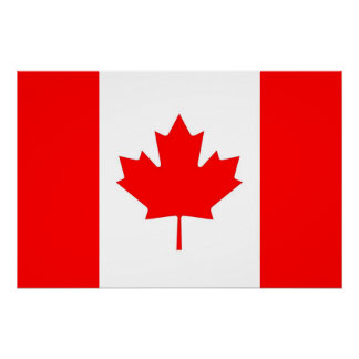 Patriotic poster with Flag of Canada