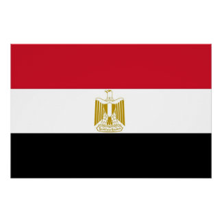 Patriotic poster with Flag of Egypt
