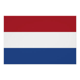Patriotic poster with Flag of Netherlands