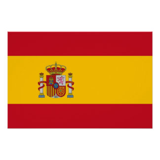 Patriotic poster with Flag of Spain