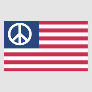 Patriotic Red White and Peace Sticker