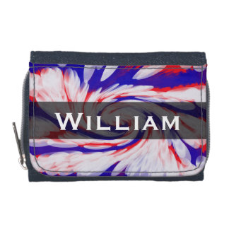 Patriotic red white blue abstract wallet