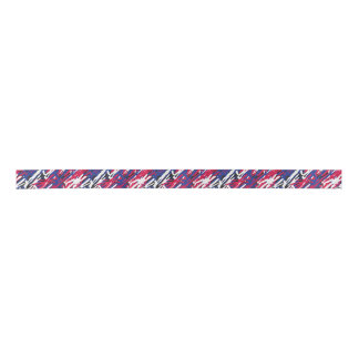 Patriotic Red White Blue Camouflage Ribbon Satin Ribbon