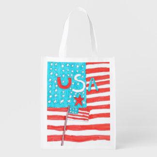 Patriotic reusable bag