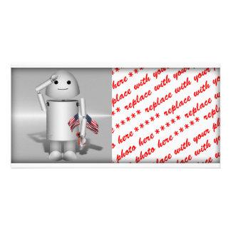 Patriotic Robo-x9 - Remember Memorial Day Custom Photo Card