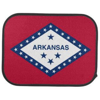 Patriotic set of car mats with Flag of Arkansas