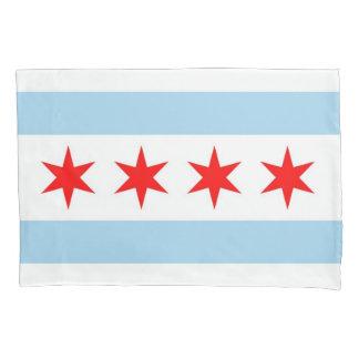 Patriotic Single Pillowcase flag of Chicago, USA