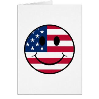 Patriotic Smiley Card