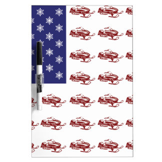 Patriotic Snowmobiling Dry-Erase Boards