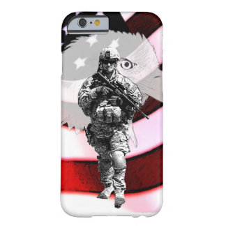Patriotic Soldier with Eagle and U.S. Flag Barely There iPhone 6 Case