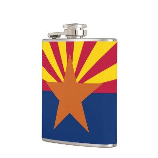 Patriotic, special flask with Arizona State flag