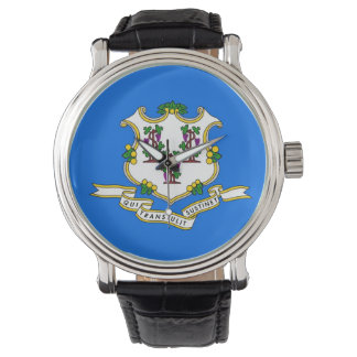 Patriotic, special watch with Flag of Connecticut