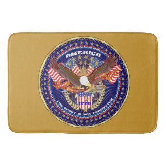 Patriotic Spirit Bath Gold Bath Mat