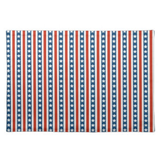 Patriotic Stars and Stripes Placemat