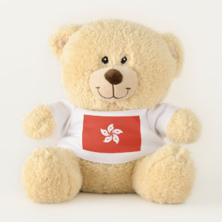 Patriotic Teddy Bear flag of Hong Kong