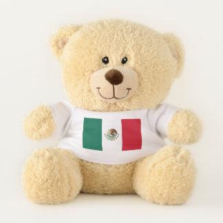 Patriotic Teddy Bear flag of Mexico