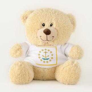 Patriotic Teddy Bear flag of Rhode Island, USA