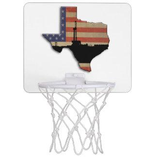 Patriotic Texas Oil Drilling Rig Mini Basketball Hoop
