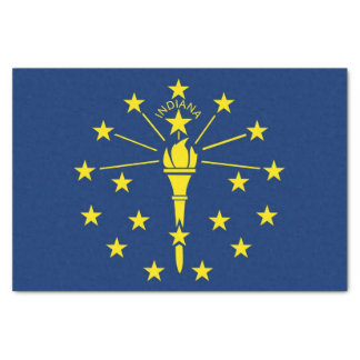 Patriotic tissue paper with flag of Indiana