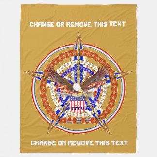 Patriotic U.S.A.1 Gold View Hints Below Fleece Blanket