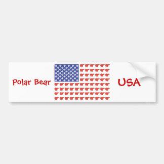 Patriotic USA Polar Bears Bumper Sticker