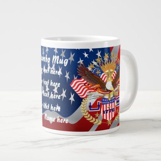 Patriotic Veteran View Artist Comments Extra Large Mug