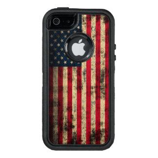 Patriotic Vintage Grunge American Flag OtterBox iPhone 5/5s/SE Case