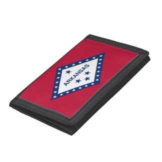 Patriotic wallet with Flag of Arkansas