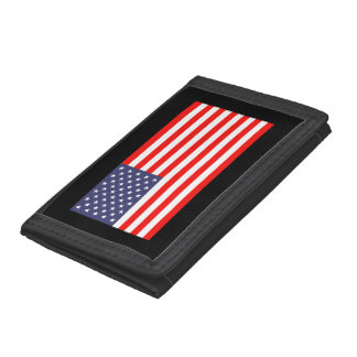 Patriotic wallets with American flag