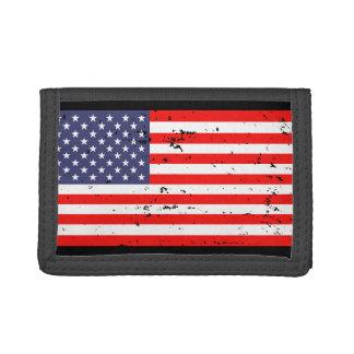 Patriotic wallets with vintage American flag