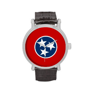 Patriotic watch with Flag of Tennessee