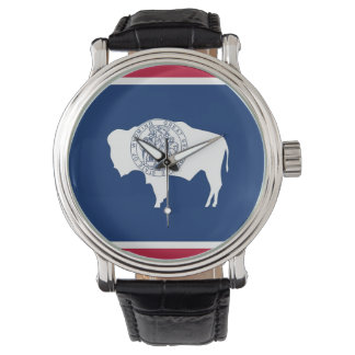 Patriotic watch with Flag of Wyoming