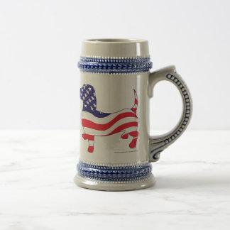 Patriotic-Weiner Beer Stein