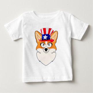Patriotic Welsh Corgi Baby T-Shirt
