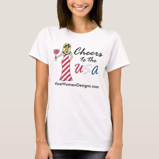 "Patriotic Wine Goddess ""Cheers To The USA"" Promo T-Shirt"