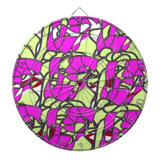 pattern-color pink. dart boards