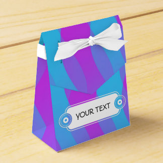 Pattern - cyan pink waves + your text party favour box