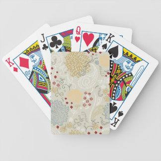 pattern displaying curly garden bicycle playing cards