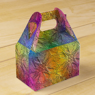 Pattern Embossed Rainbow Wedding Favour Box