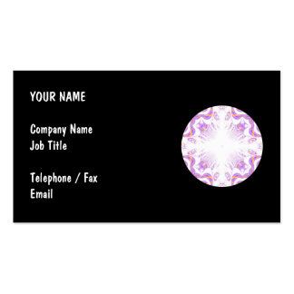 Pattern in Black, White, Orange and Purple. Pack Of Standard Business Cards