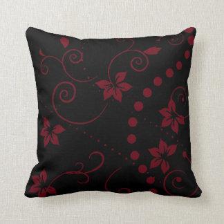 Pattern Leaf wine floral ~ editable background Cushion