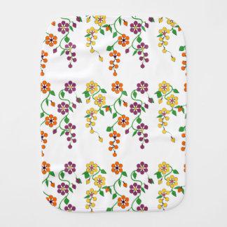 Pattern NO.2: Hanging Flowers Baby Burp Cloth