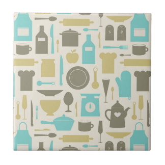 Pattern Of Kitchen Tools Tile