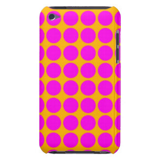 Pattern Orange Background with Pink Circles Barely There iPod Covers